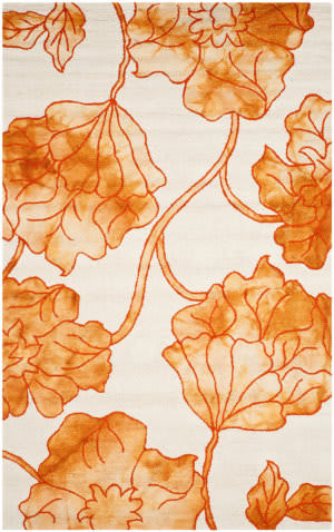 Safavieh Dip Dye Ddy683a Ivory - Orange Area Rug