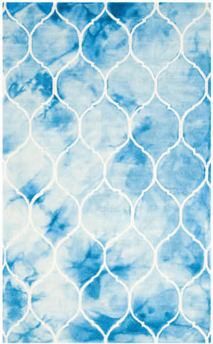 Safavieh Dip Dye Ddy685g Blue - Ivory Area Rug