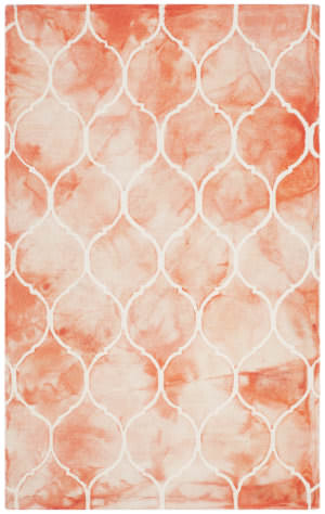 Safavieh Dip Dyed Ddy685k Orange - Ivory Area Rug