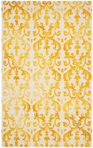 Safavieh Dip Dye Ddy689a Ivory - Gold Area Rug