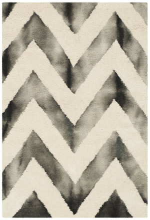 Safavieh Dip Dye Ddy715d Ivory - Charcoal Area Rug