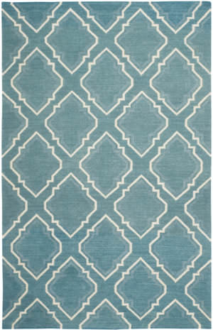 Safavieh Dhurries Dhu112a Blue - Ivory Area Rug