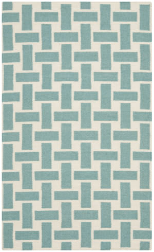 Safavieh Dhurries Dhu201a Turquoise - Ivory Area Rug