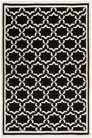 Safavieh Dhurries DHU545L Black / Ivory Area Rug