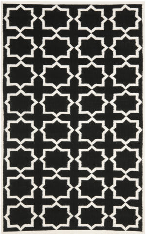 Safavieh Dhurries DHU549L Black / Ivory Area Rug