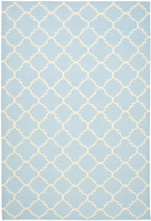 Safavieh Dhurries Dhu554b Light Blue / Ivory Area Rug