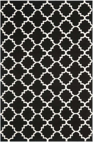 Safavieh Dhurries DHU554L Black / Ivory Area Rug