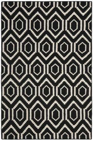 Safavieh Dhurries DHU556L Black / Ivory Area Rug