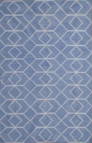 Rugstudio Sample Sale 80564R Blue / Ivory Area Rug