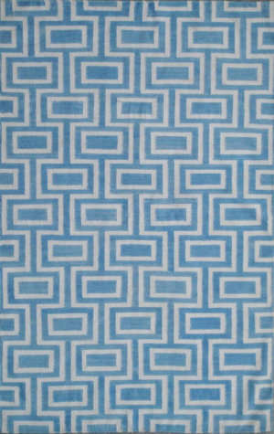 Safavieh Dhurries DHU562A Light Blue / Ivory Area Rug