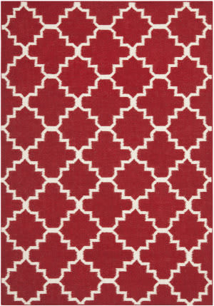 Safavieh Dhurries DHU566B Red / Ivory Area Rug