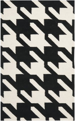 Safavieh Dhurries DHU570A Black / Ivory Area Rug
