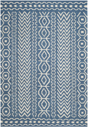 Safavieh Dhurries Dhu572a Dark Blue - Ivory Area Rug