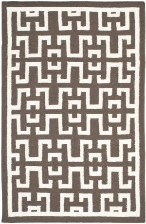 Safavieh Dhurries DHU621C Chocolate / Ivory Area Rug