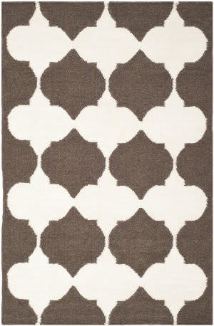 Safavieh Dhurries Dhu624c Brown / Ivory Area Rug