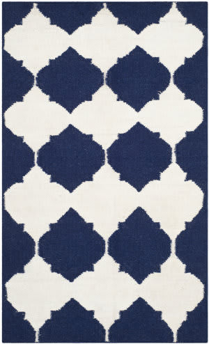 Safavieh Dhurries Dhu624d Navy / Ivory Area Rug