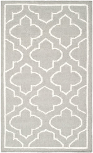Safavieh Dhurries Dhu625b Grey / Ivory Area Rug