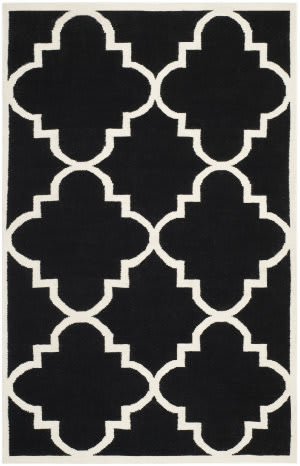 Safavieh Dhurries DHU633A Black / Ivory Area Rug
