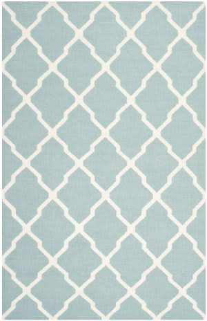 Safavieh Dhurries DHU634C Light Blue / Ivory Area Rug