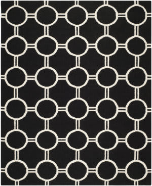 Safavieh Dhurries DHU636A Black / Ivory Area Rug