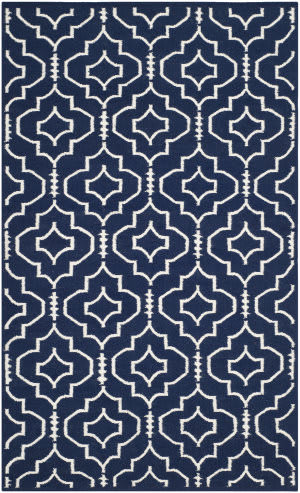 Safavieh Dhurries Dhu637d Navy / Ivory Area Rug