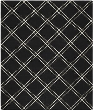 Safavieh Dhurries DHU638A Black / Ivory Area Rug