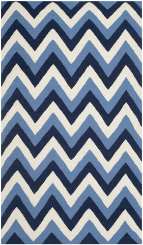 Safavieh Dhurries Dhu640b Navy / Light Blue Area Rug