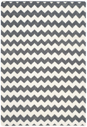 Safavieh Dhurries Dhu644b Ivory - Charcoal Area Rug