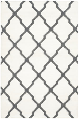 Safavieh Dhurries Dhu645b Ivory - Charcoal Area Rug