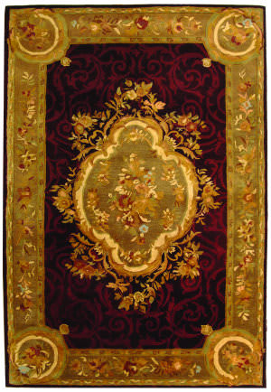 Safavieh Empire EM414A Dark Red - Dark Beige Area Rug