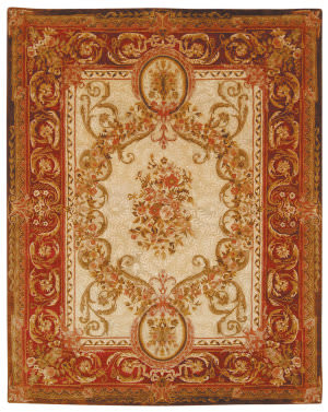 Safavieh Empire EM415A Light Gold / Red Area Rug