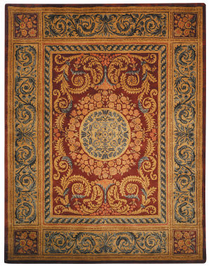 Safavieh Empire EM421A Burgundy / Gold Area Rug