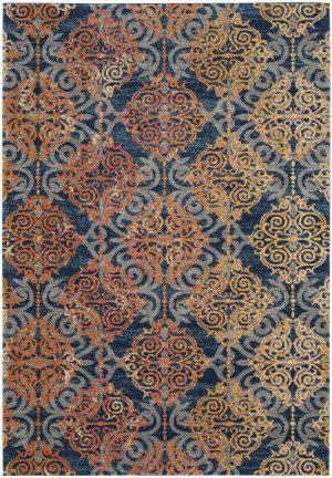 Safavieh Evoke Evk230s Blue - Orange Area Rug