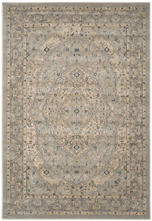 Safavieh Evoke Evk518l Light Grey - Cream Area Rug