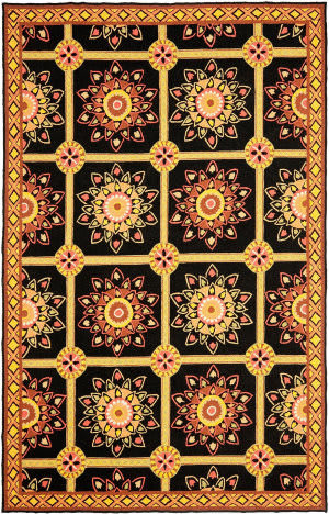 Safavieh Durarug Ezc711c Black - Yellow Area Rug