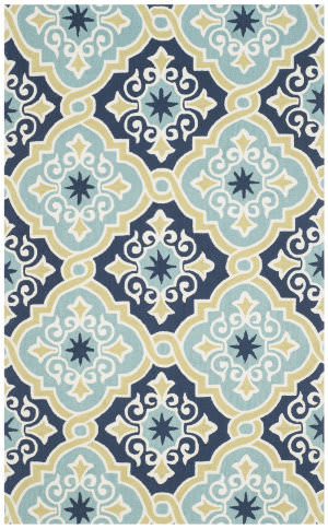 Safavieh Four Seasons Frs231a Navy - Light Blue Area Rug