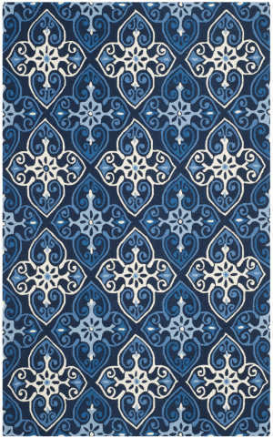 Safavieh Four Seasons Frs232a Navy - Ivory Area Rug