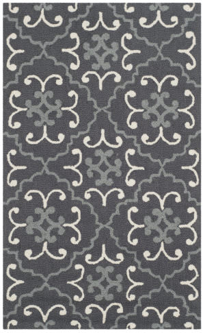Safavieh Four Seasons Frs234c Dark Grey - Ivory Area Rug