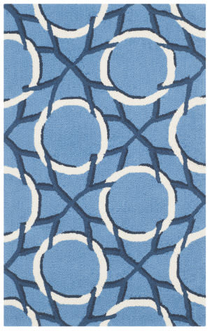 Safavieh Four Seasons Frs238a Blue - Ivory Area Rug