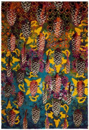 Safavieh Fiesta Shag Fsg369k Turquoise - Multi Area Rug