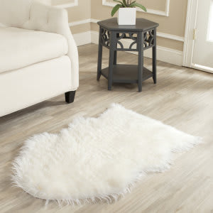 Safavieh Faux Sheep Skin Fss115a Ivory Area Rug