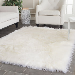 Safavieh Faux Sheep Skin Fss235a Ivory Area Rug