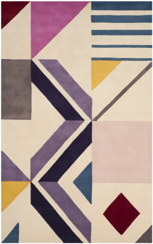 Safavieh Fifth Avenue Ftv116a Ivory - Purple Area Rug