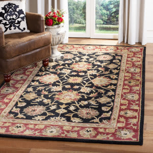 Safavieh Heritage HG112A Black - Red Area Rug