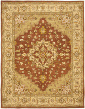 Safavieh Heritage Hg345a Rust / Gold Area Rug