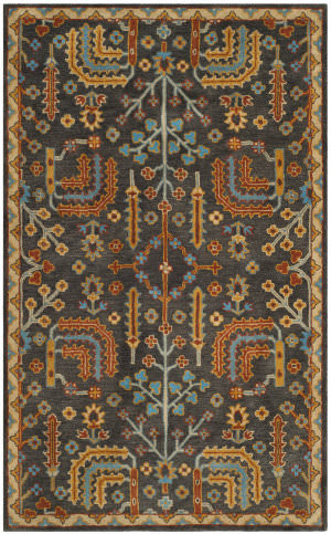 Safavieh Heritage Hg409a Charcoal - Multi Area Rug
