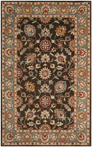 Safavieh Heritage Hg412a Charcoal - Blue Area Rug