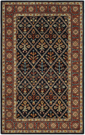 Safavieh Heritage Hg738n Navy - Red Area Rug