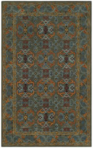 Safavieh Heritage Hg741w Sage - Blue Area Rug