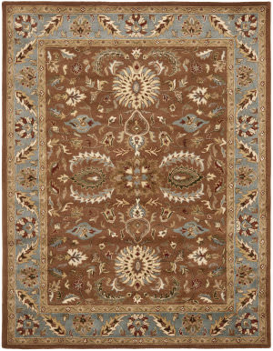 Safavieh Heritage Hg968a Brown / Blue Area Rug